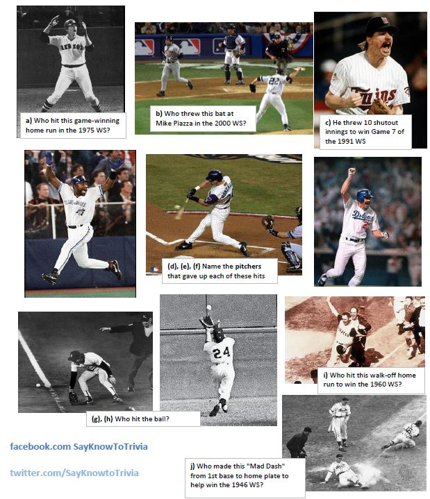 world series photos trivia